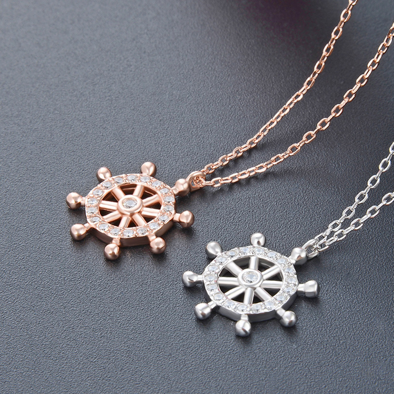 S925 Sterling Silver Necklace clavicle Necklace rose gold necklace