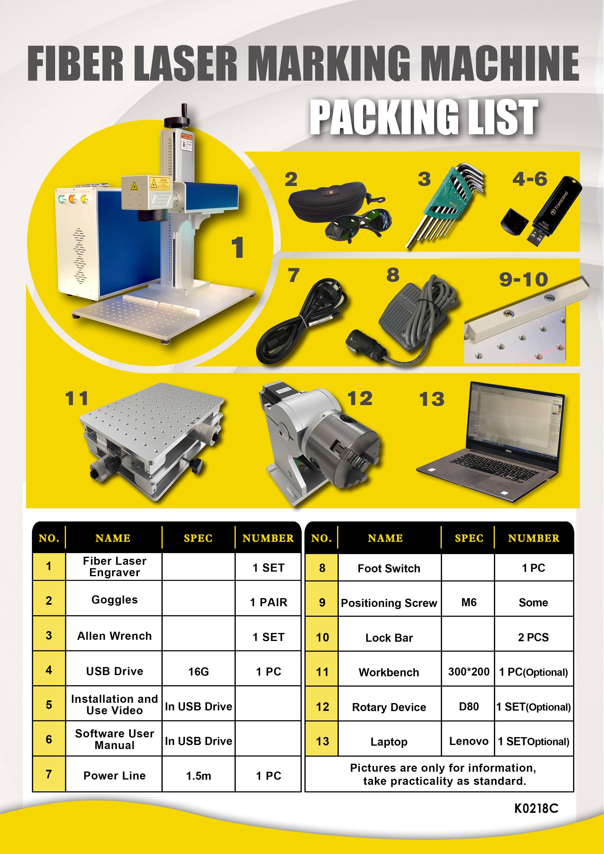 섬유 30w 50w lazer 마킹 쓰기 마킹 기계 공장 가격