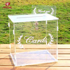 Decoration Table JAYI Custom Clear Acrylic Wedding Card Box Wedding Decoration With Lock For Wedding Reception Table Decor