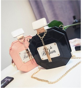 2020 Women Handbag Fashion Party Women Evening Bags Leather Perfume Bottle Crossbody Bag Chain Mini Clutch Bag