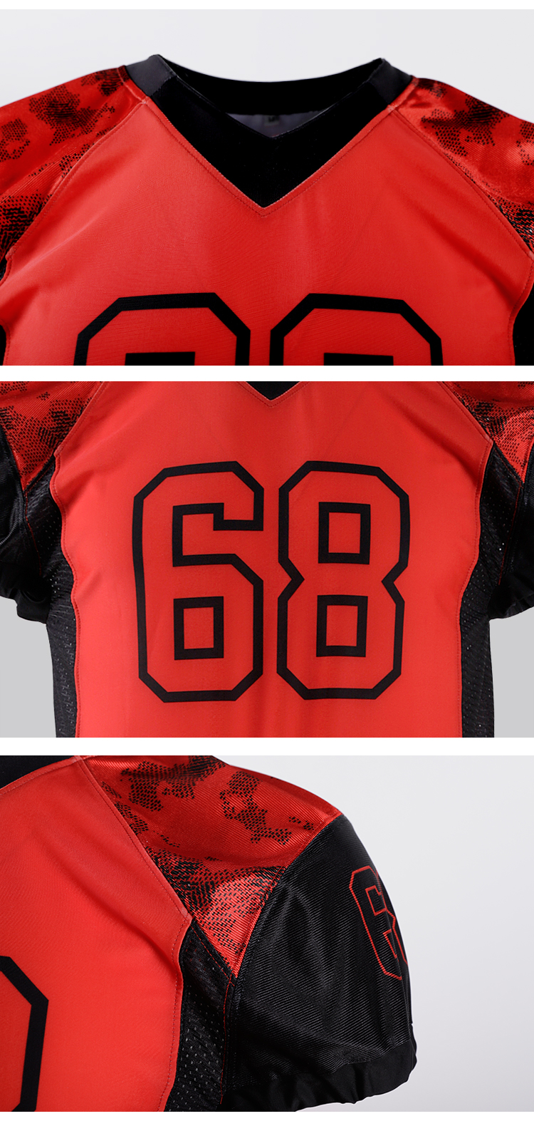 Design Men's cheap Sublimation american football jersey tackle twill Custom