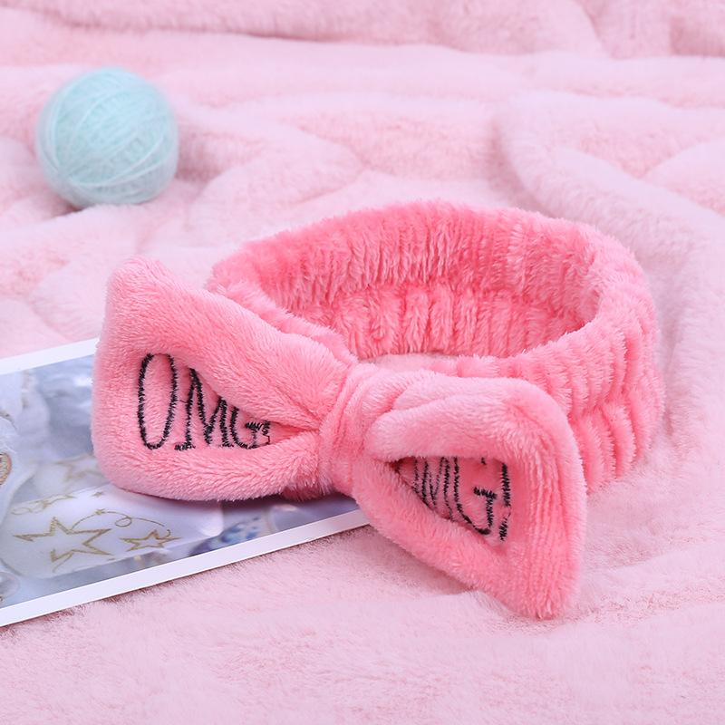 New Letter OMG Coral Fleece Soft Bow Headbands For Women Girls Cute Holder Hairbands Bands Headwear Hair Accessories
