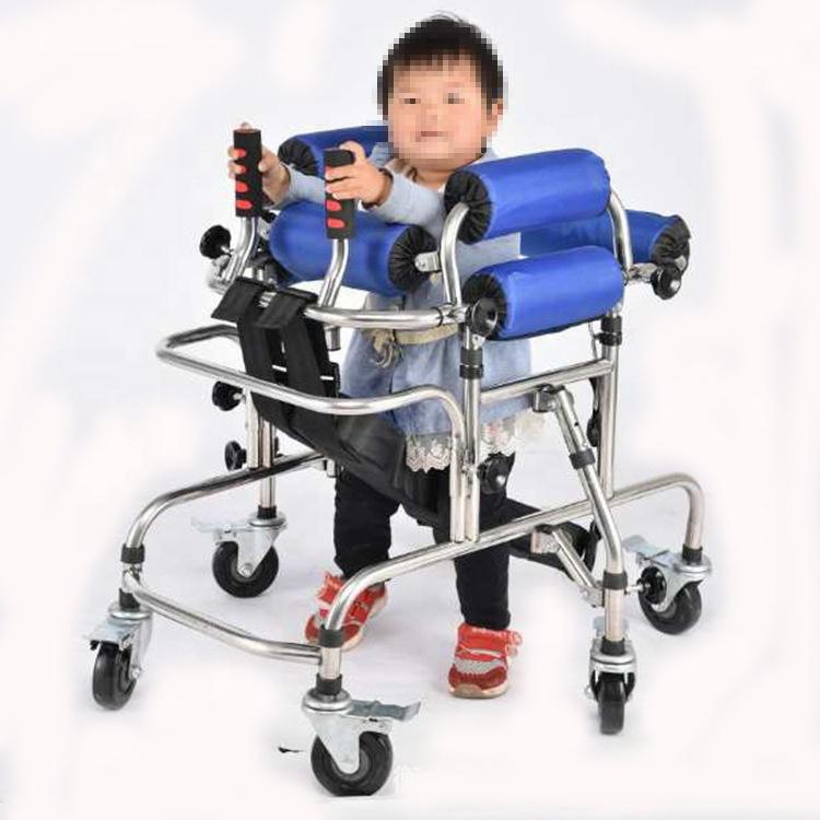 גבוהה באיכות אנטי גלגול נכים ילדי עזרי הליכה בשיתוק גפיים התחתונים אימון הליכון נירוסטה עומד מסגרת