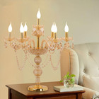 Modern Desk Light Wedding Candelabra Luxurious Crystal Table Light