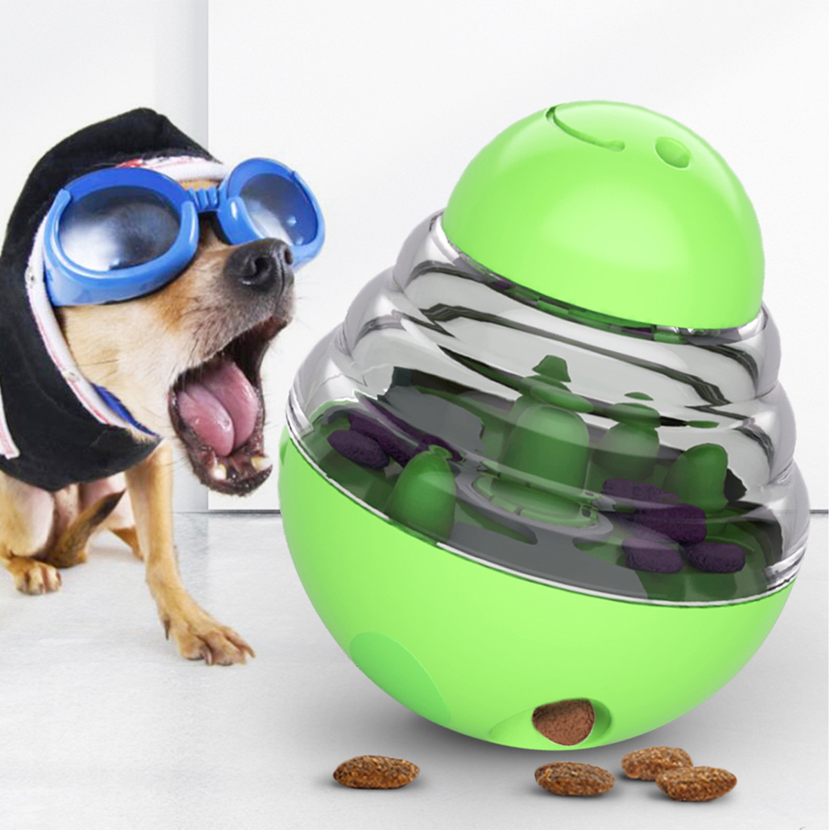 Dog Treat Dispenser Ball Toy, Interactive Treat-Dispensing Ball  PET food feeder
