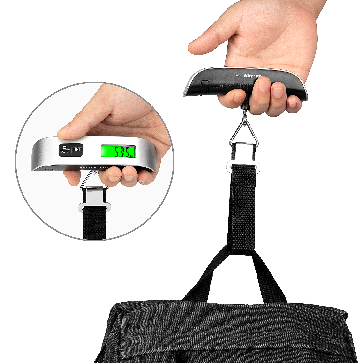 small size cheap suitcase weight 40kg 50kg handheld weight digital hanging scale luggage