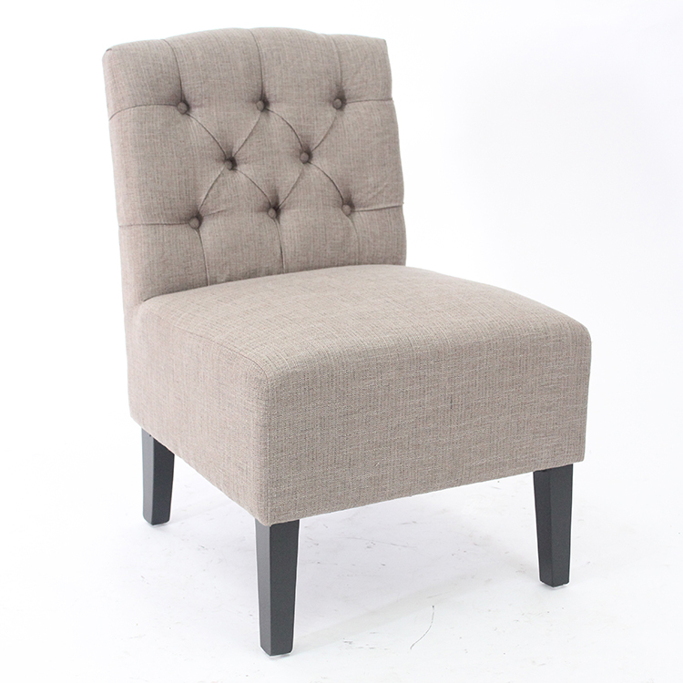 Excellent quality fabric upholstered   button tufted back  dining chair  for living room