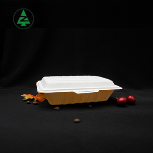 Great quality reassured recycled food box 100% biodegradable corn starch lunch box