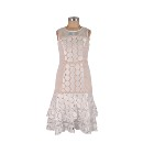 Lady white lace dress women formal dresses office lady elegant white lace vintage dress D33110