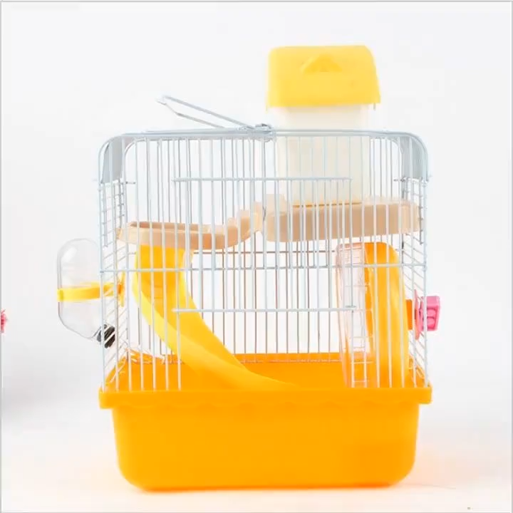 HQP-XC01 HongQiang Wholesale Factory Luxury Custom Fold Cheap Plastic Metal Acrylic Hamster Cage For Sale