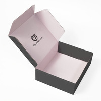 Recycle Matte Black Mailer Packing Custom Shipping Box Package For Cloth Packaging With Logo Print