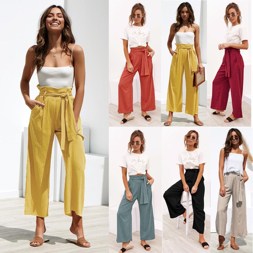 Modelos De Explosion De Cuatro Color Venda Pierna Ancha De Primavera Y Verano Pantalones Casuales Para Mujeres Buy Pantalones De Mujer Pantalones Casuales Pantalones De Pierna Ancha Product On Alibaba Com
