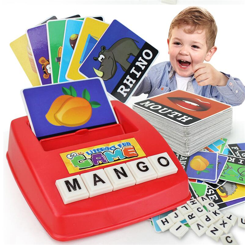 Education See Picture Literacy Platter Learn English Word Game Toy