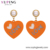 BLE-954 Xuping wholesale price hot sale gold love heart shape women fashion jewelry acrylic earrings for women