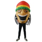 Inflatable Jamaican Singer Costume Cosplay Halloween Funny Fancy Blow Up Suit for Adult