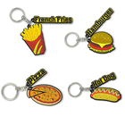 Wholesale Child Toy 4.0 Ble Low Energy Trinket Cute hamburger Food Fruit Cartoon Animal PVC Pendant Keychain
