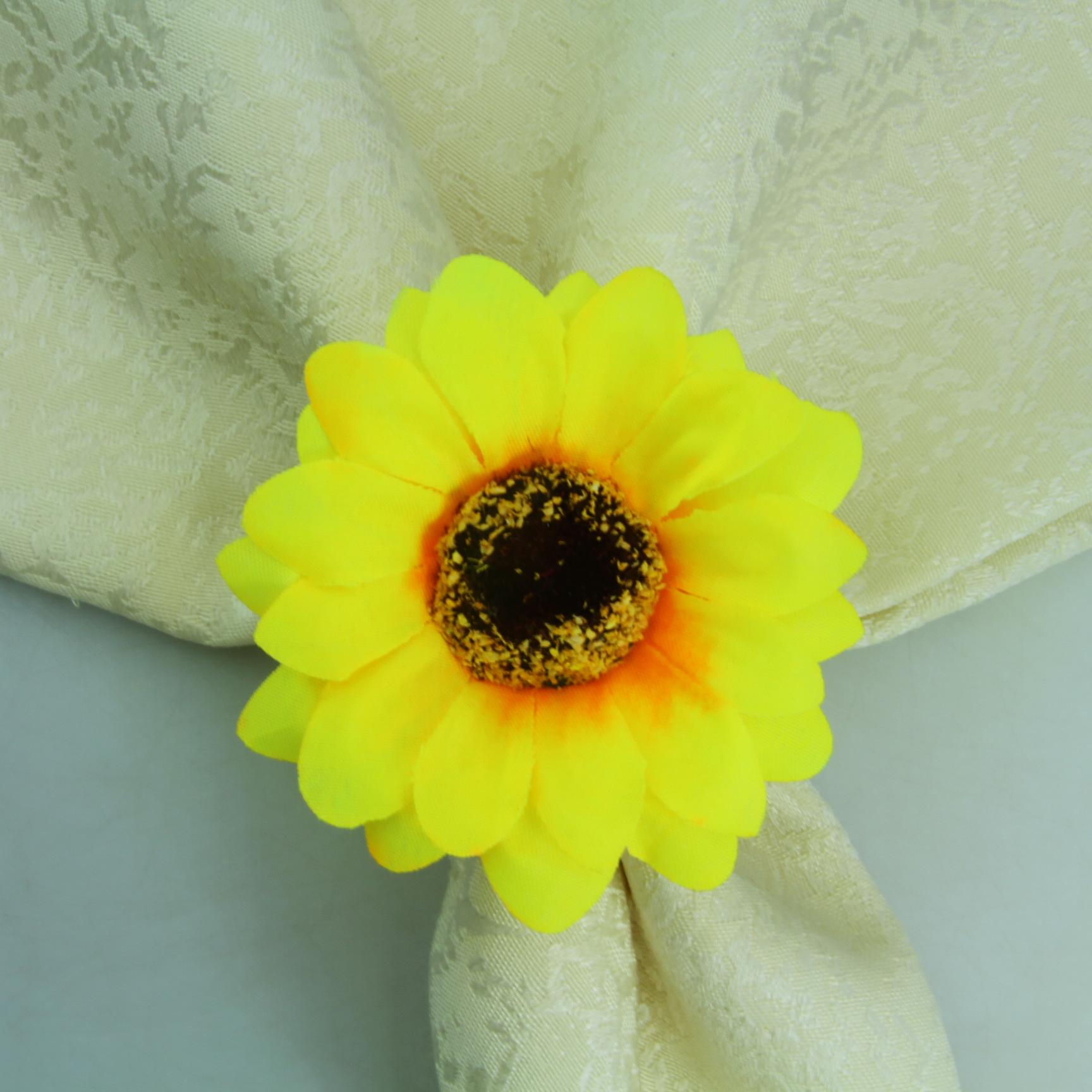 Silk Sunflower Napkin Ring Wedding Napkin Holder Buy Silk Flower Napkin Ring Favor Wedding Ring Holder Make Decorative Napkin Rings Product On Alibaba Com