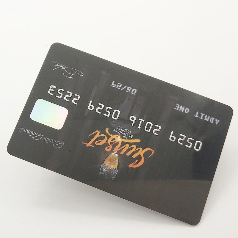 Pasokan Pembuat Kartu Profesional Tiongkok Kartu Visa Bisnis Kredit Logam