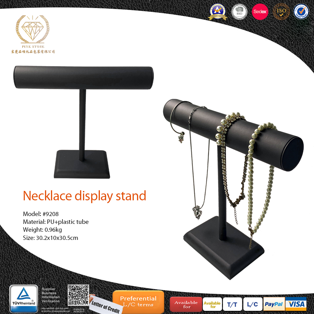 Dongguan Small Size luxury PU Leather For Jewelry Display Stand