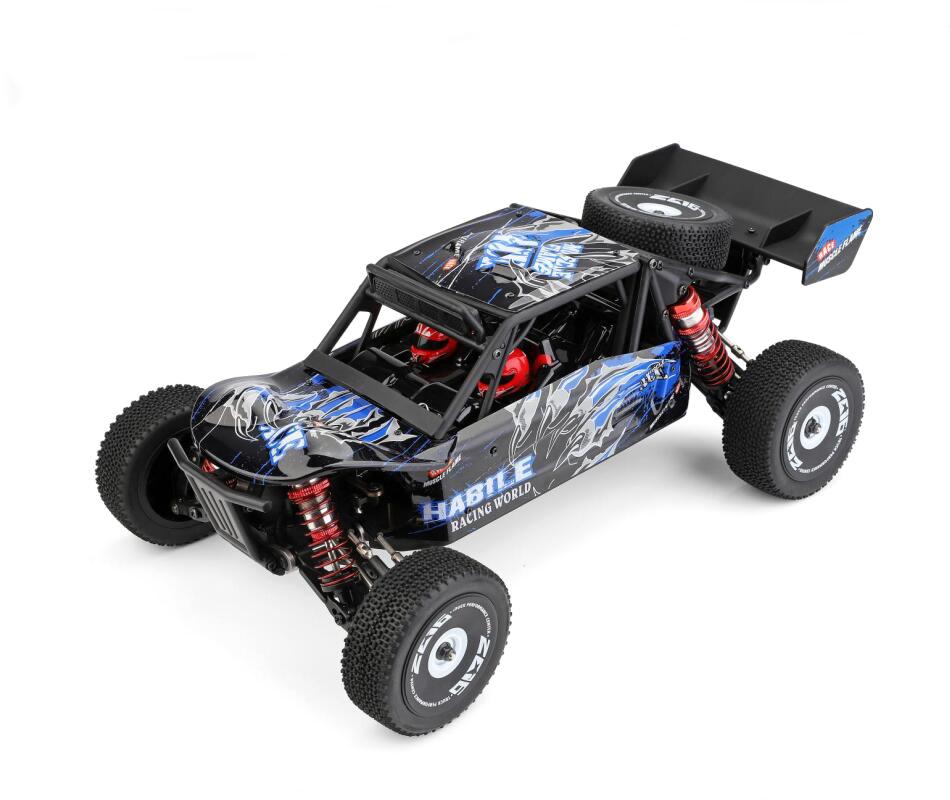WLTOYS 124018 1:12 2.4GHz Kecepatan Tinggi Paduan 4WD Gurun Mendaki Mobil Mainan