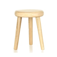Simple Style Solid Wood Material Three-legged Stool
