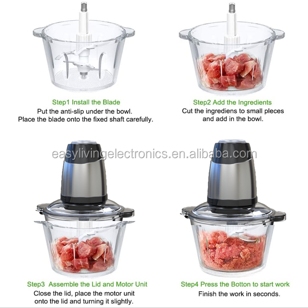Multi food processor vegetable quick swift chopper cutter salad chopper