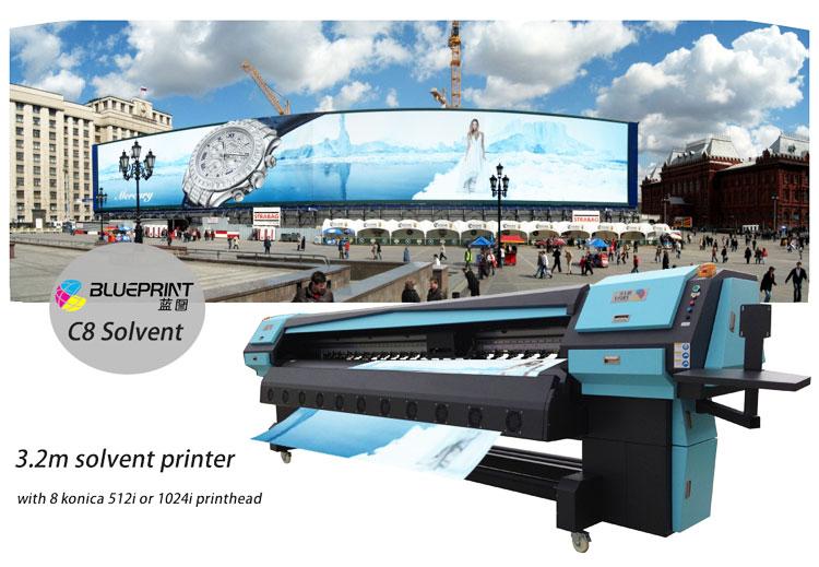 ใหม่เครื่องพิมพ์ตัวทำละลาย 3.2 M PVC Flex แบนเนอร์เครื่อง