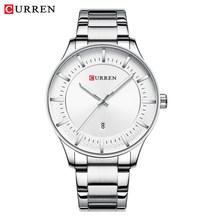 CURREN лучший бренд Мужские часы Мужские Модные кварцевые деловые мужские часы Стальные наручные часы с датой Классические черные мужские(Китай)