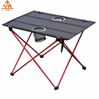 Folding Table,Outdoor Aluminum Alloy Foldable Camping Picnic Tables Portable Compact Lightweight Folding Roll-up Table