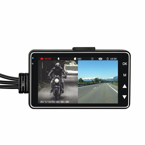 Motorcycle waterproof dual cameras mini dvr recorder for motorcycle with rearview camera