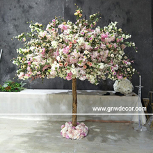 GNW prachtige design kunstmatige rose en cherry blossom tree voor evenement of wieden decoratie