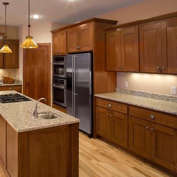 American Oak Solid Wood Shaker Kitchen Cabinet Design ...
