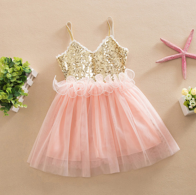 new product summer <strong>fashion</strong> baby <strong>girl</strong> sequined dance dress <strong>kid</strong>