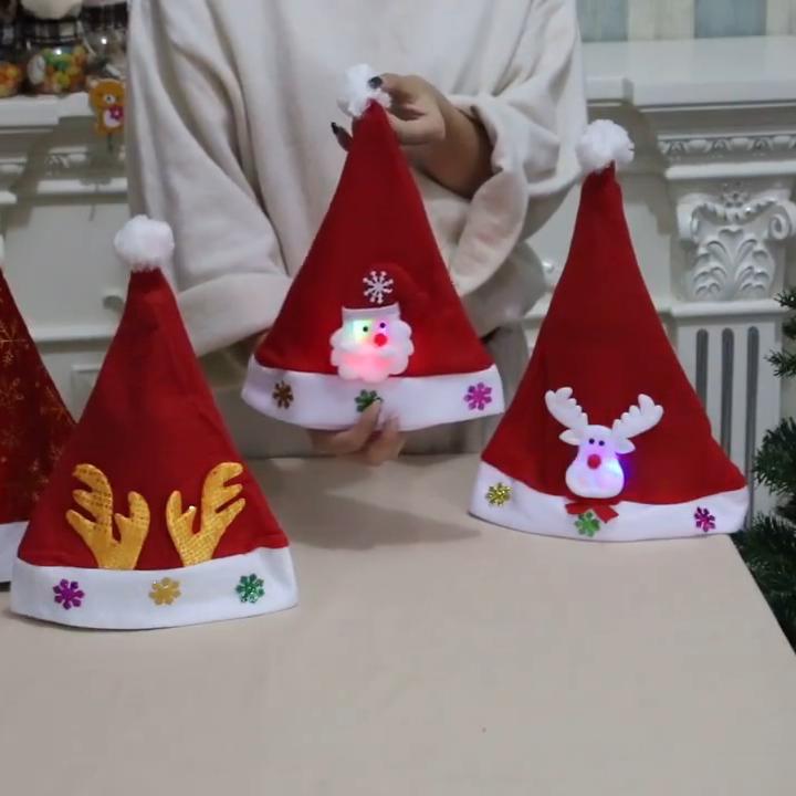 Oempromo 맞춤 크리스마스 모자 빛