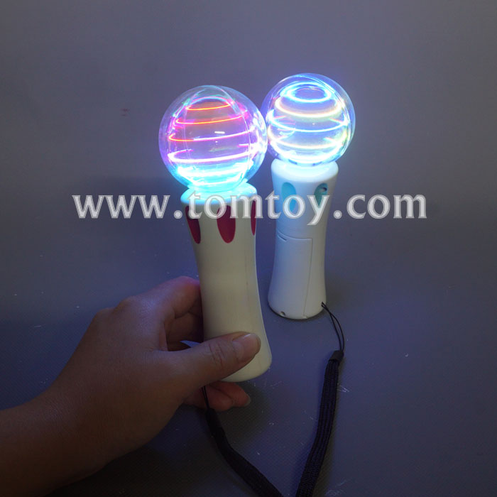 Hot high quality mini LED Light up Spinning Wand