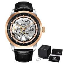 Pagani автоматические механические мужские часы, модные повседневные водонепроницаемые часы, мужские спортивные кожаные Наручные часы, мужск...(Китай)