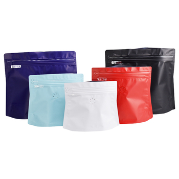 Recyclable Matelized Diamond Shape Stand up Plastic Coffee Bag with Valve