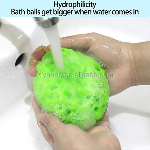 Bath Scrubber Shower Spa Sponge Body Cleaning Scrub Random Colors Bath Ball