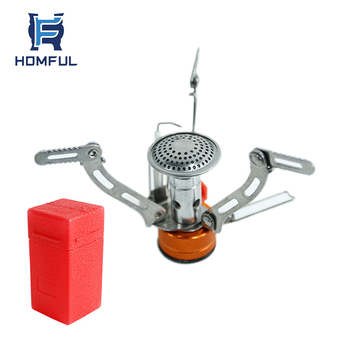 HOMFUL Portable Piezo Ignition Camping Mini Stove for Backpacking