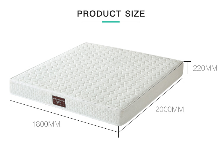 Wholesale Modern Comfortable Coconut Fiber Double Bed Spring Mattress