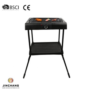 2000W Electric BBQ With Water Tray Used Nonstick Smokeless Barbecue Grill