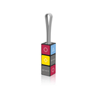 Rubik's Cube Design Multi Micro USB Type C Quick Charger Data Sync Charging 3 in 1 Mini Keychain USB Cable for iPhone iPod