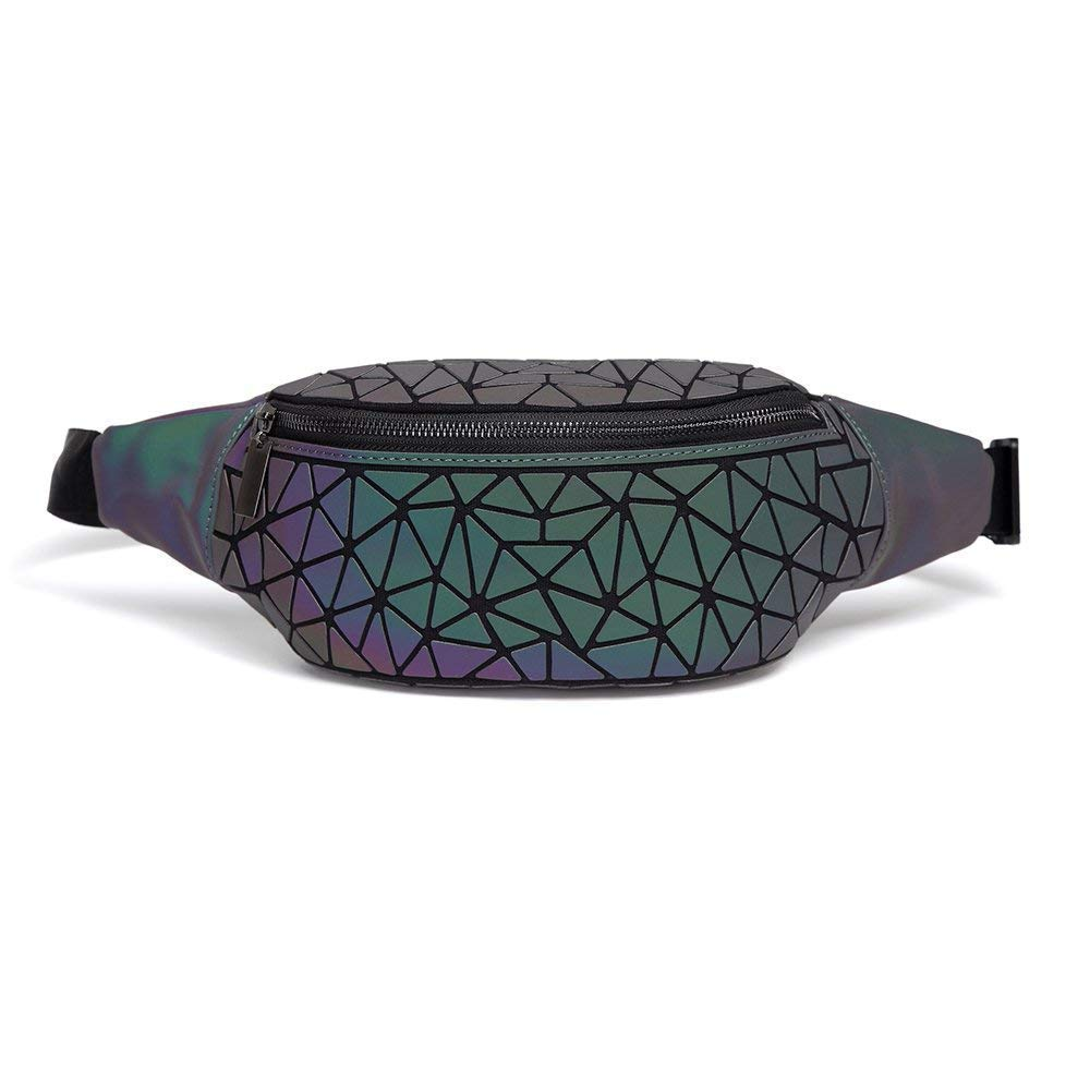 2019 Fashion Waist Bag for Women Luminous Holographic Fanny Packs