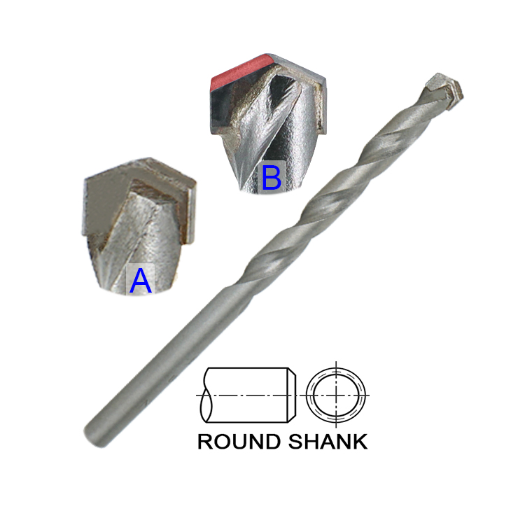 Carbide Tip Universal Construction Multi Purpose Masonry Drill Bit for Concrete Brick Tile Blue Granite
