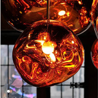 Hanging Lamps Bedroom Kitchen Accessories Modern Personality Light Melt Lava Nordic LED Chandelier Lava Ball Pendant Lamps