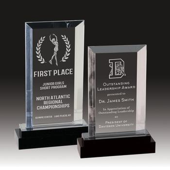 Clear Acrylic Trophy Engraving Logo Custom Made Crystal Plaques Acrylic Award