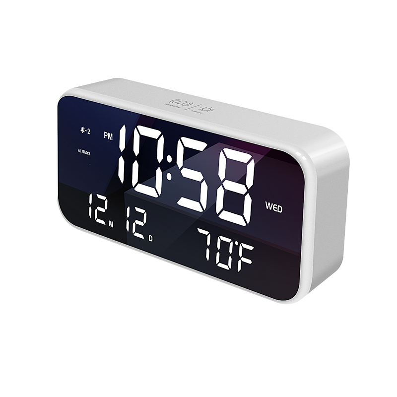 LCD cube clock QHX-A6 alarm clock creative rechargeable LED digital table clock