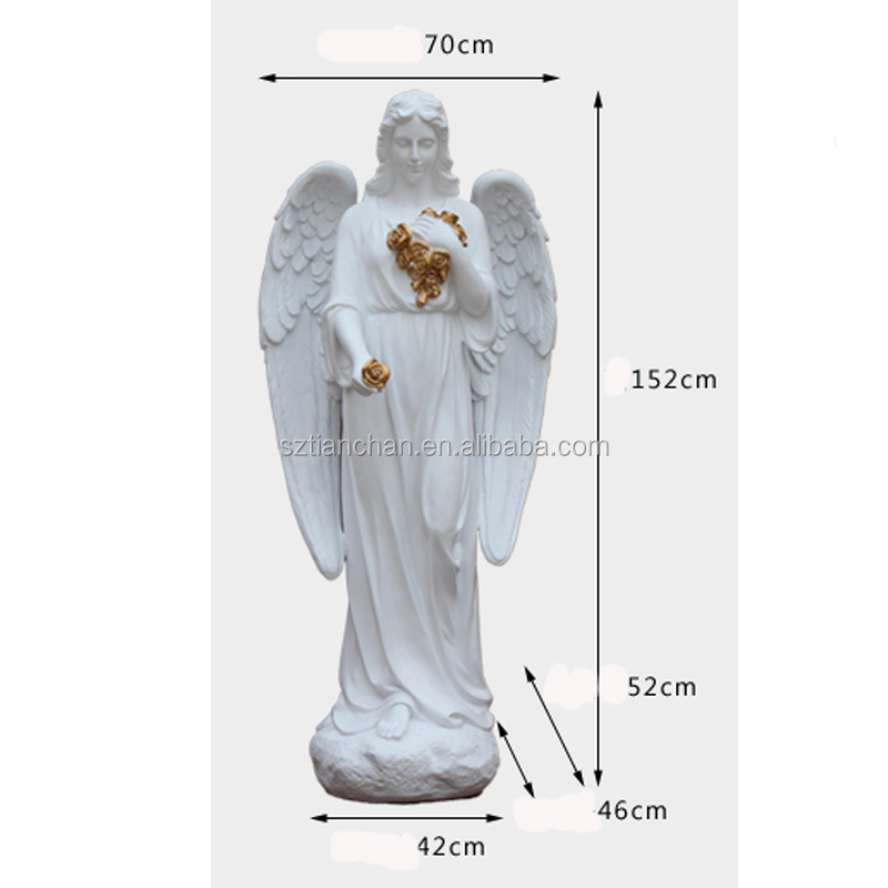 Europe products figure statue garden decor custom resin FRP large angel sculpture