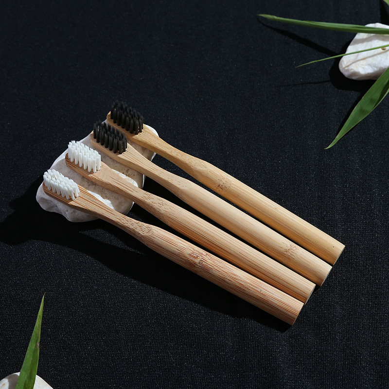 Eco-Friendly Natural Biodegradable Charcoal bamboo handle colorful whitening soft bristles bamboo toothbrush