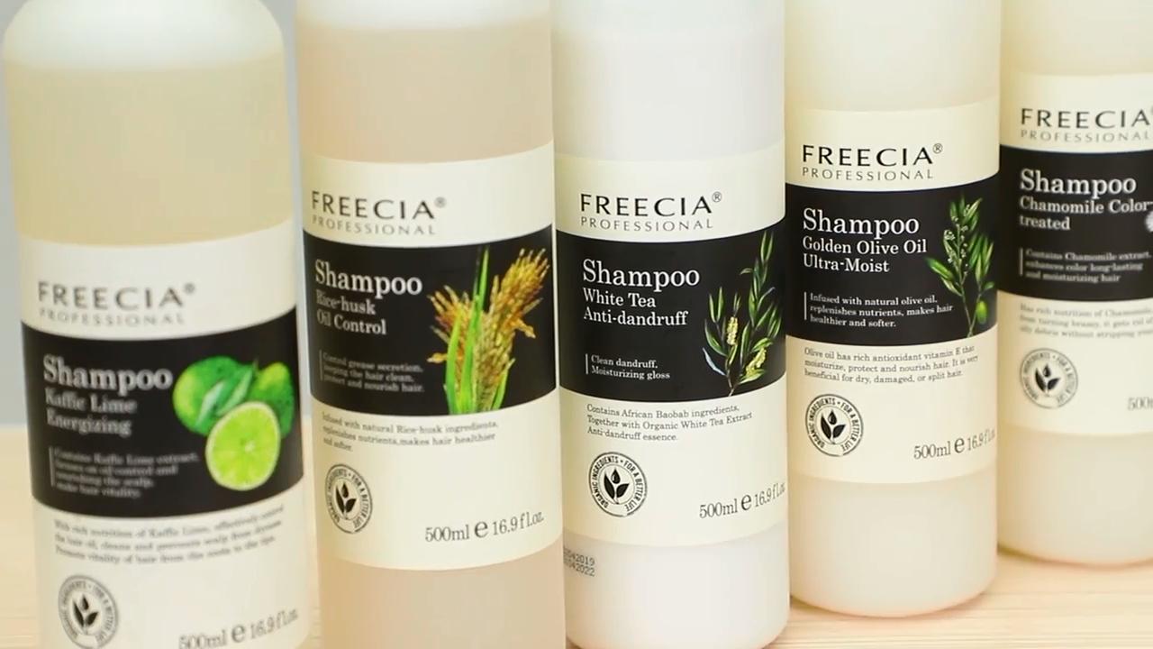 Vente CHAUDE gris shampooing cheveux avec étiquette privée, meilleures marques de shampoing bio naturel